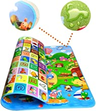Figment Double Sided Water Proof Baby Mat Carpet Baby Crawl Play Mat Kids Infant Crawling Play Mat Carpet Baby Gym Water Resistant Baby Play & Crawl Mat(Large Size - 6 X 4) Playmat for Babies (Large)