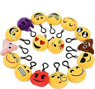Zindoo Mini Emoji Llavero Emoción Llavero Felpa Fiesta de