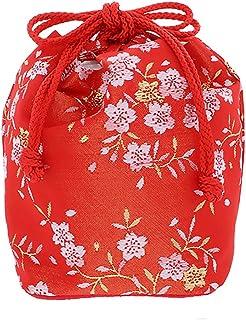 [ 京都きもの町 ] 七五三 巾着単品「朱赤×金色 桜」桃の節句、ひな祭り