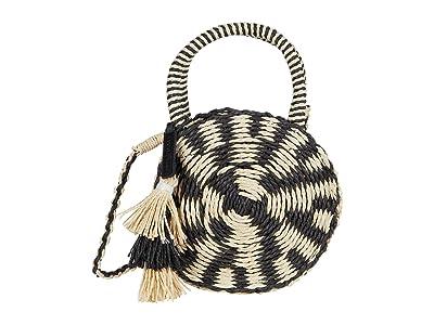 Lucky Brand Ordo Circle Crossbody (Black/Natural) Handbags