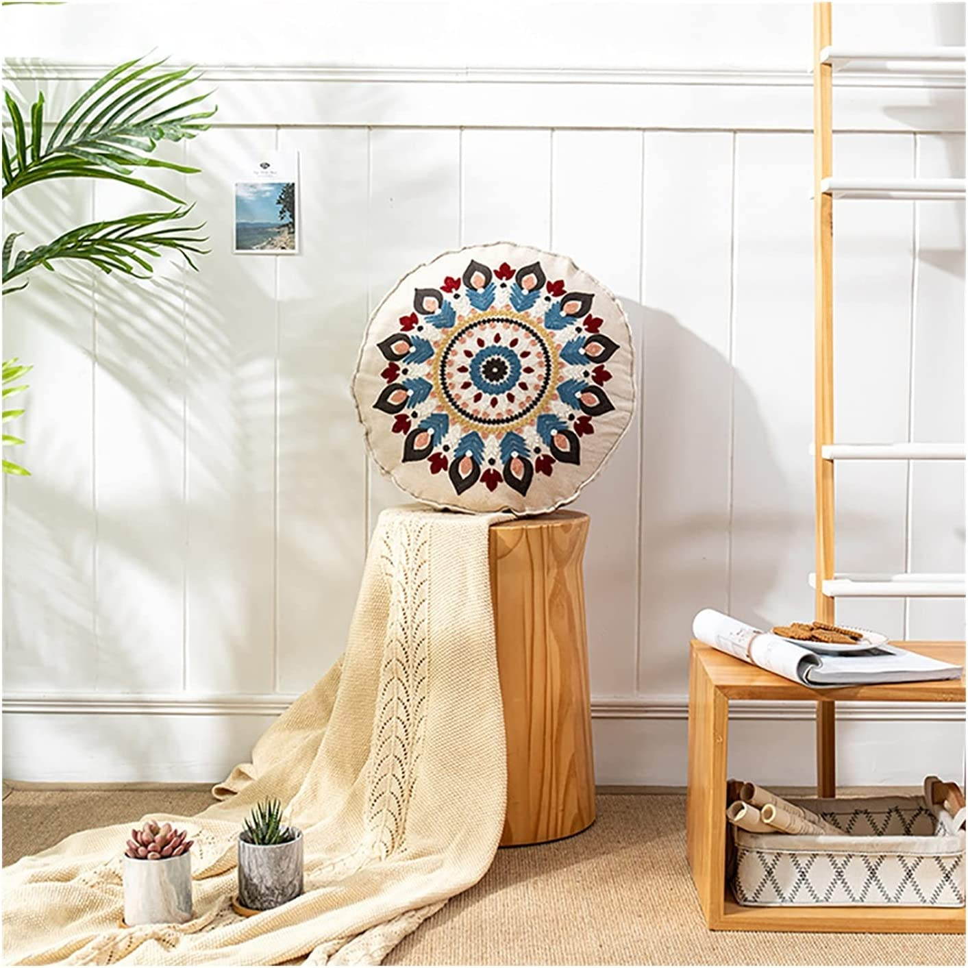gujiu Oriental Pouf Pillow Free shipping anywhere in the nation Sofa Recommended Emb Cushion Throw