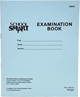 School Smart Examination Blue Book with 16 Pages, 7 x 8-1/2 Inches, Pack of 50 Books