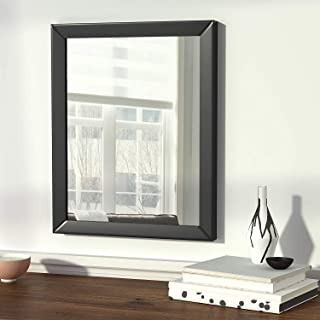 AG Crafts Flat Decorative Wall Mirror/Looking Glass Outer Size 12 x 18 inch (Black)