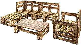 Conjunto Chill Out compatible para uso Interior y exterior de muebles con palets de Madera. Sofas de palets