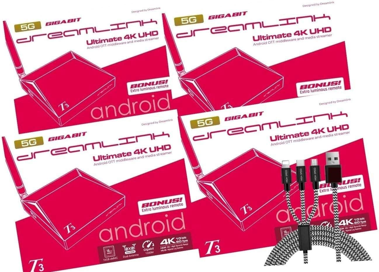 { Package of 4 } Dreamlink T3 Band Gigabit Max 45% OFF 5G Japan Maker New Android Dual 2 LAN