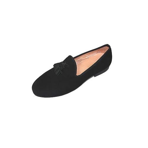 d78d7dbf15e2f SMYTHE & DIGBY Men's Velvet Tassel Loafers Leather