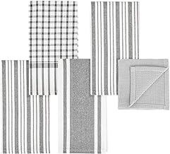 mDesign Juego de 5 trapos de cocina con diseño de rayas – Paños de cocina de 100% algodón en distintos tamaños – Elegantes...