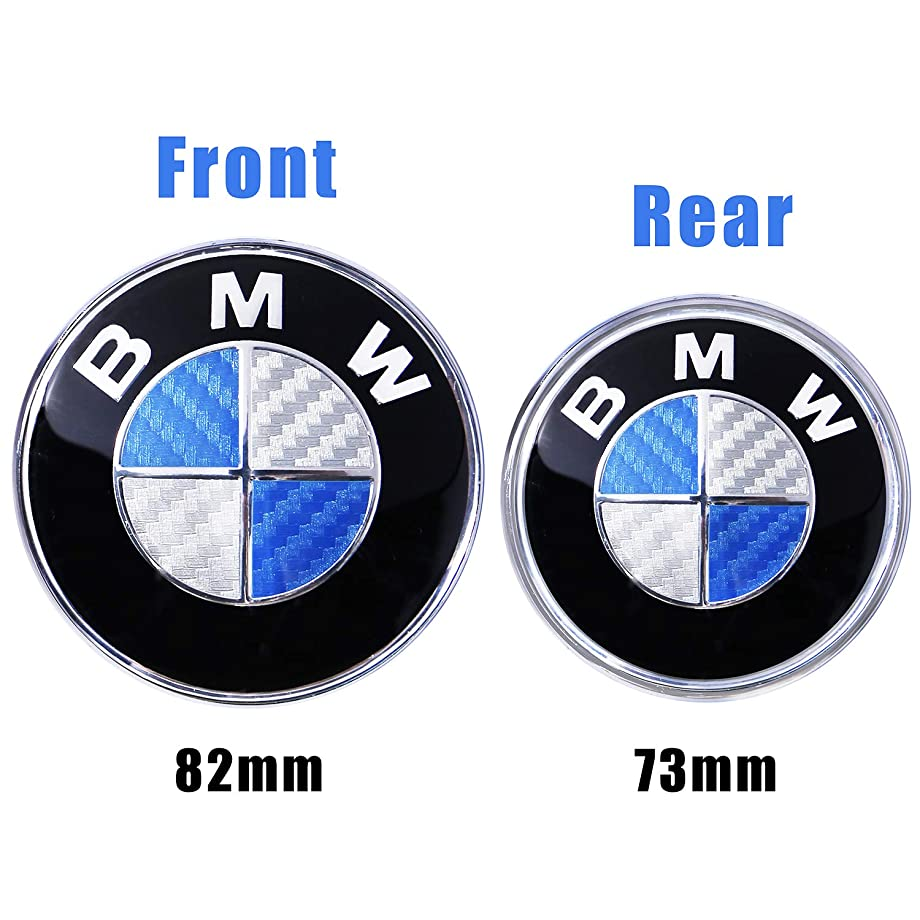Trooer Emblem Logo Replacement for BMW Hood/Trunk 82mm for All Models E30 E36 E34 E60 E65 E38 X3 X5 X6 3 4 5 6 7 8