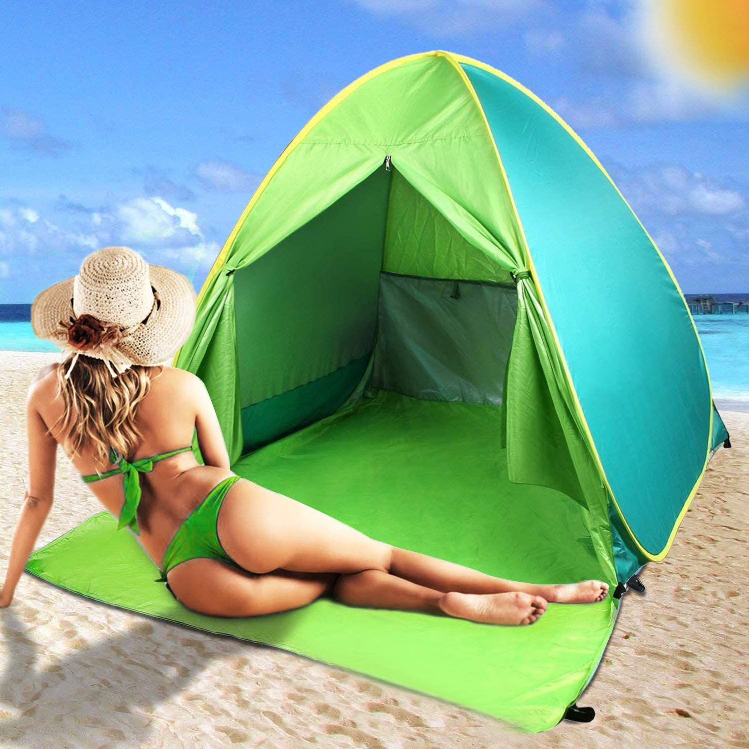 FBSPORT Beach Tent UPF 50+ Special Campaign Ranking TOP6 Pop Outdoor Up for Sun Shelter B
