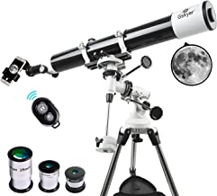 Gskyer Telescope, Astronomy Refractor Telescope, 80mm Aperture Travel Scope for Kids & Beginners - with Smartphone Adapter & Wireless Camera Remote