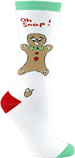 Unisex Adult - Oh Snap! Funny Gingerbread Man Christmas Socks