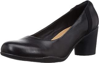 Clarks Women's Un Rosa Step Black Leather Pumps