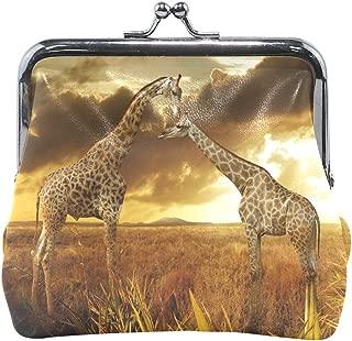 Coin Purse Giraffes Cloud Sunset Womens Wallet Clutch Bag Girls Small Purse