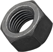 "Steel Hex Nut, Plain Finish, Grade 8, 7/16""-20 Threads, 0.794"" Width Across Flats, 0.385"" Height (Pack of 100)"