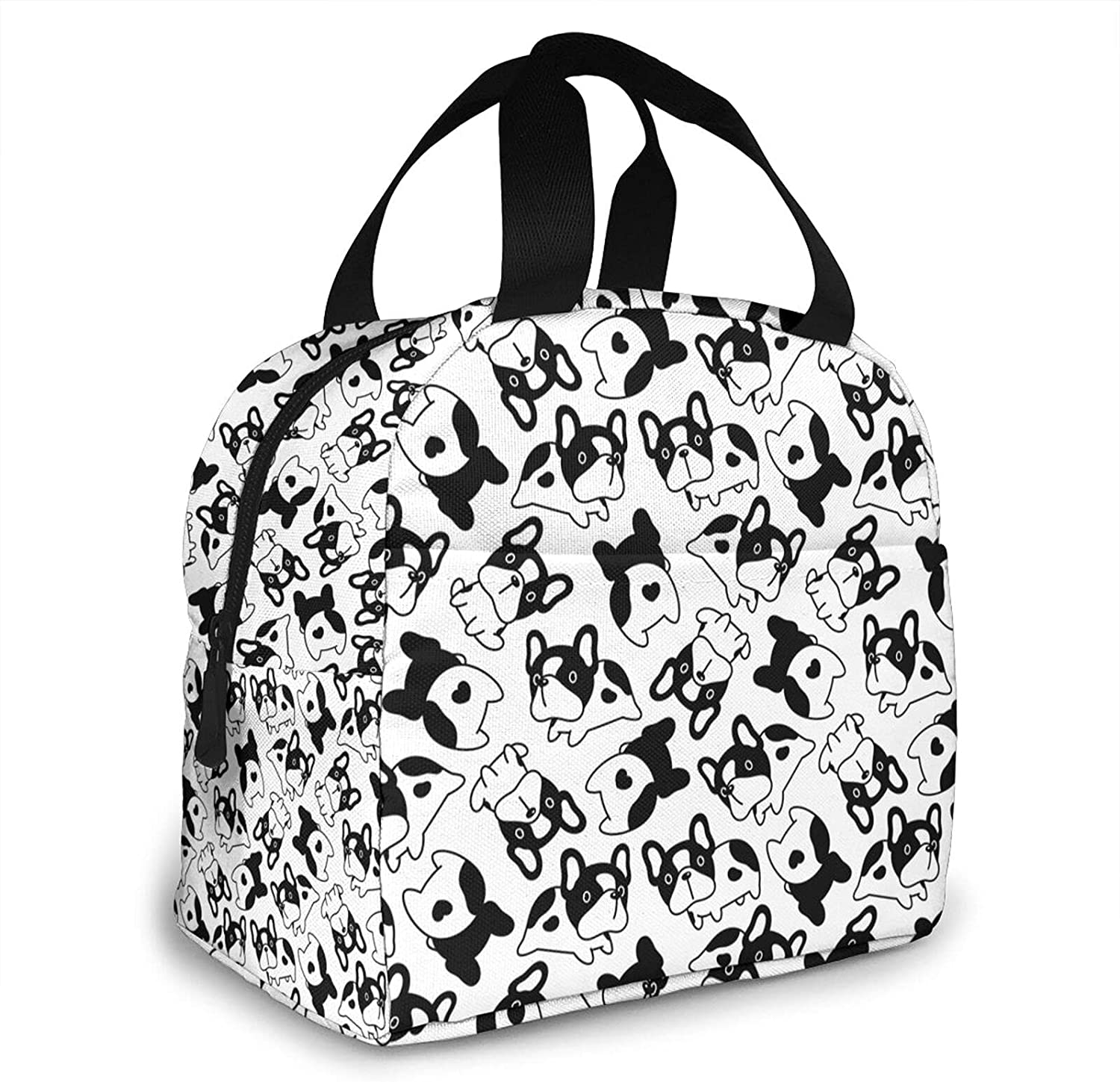 french bulldog Super sale period limited heart Lunch Bag for Travel Bombing new work Cooler Insulated