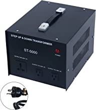 YaeCCC 5000 Watt Voltage Converter Transformer - 110V/220V - Circuit Breaker Protection