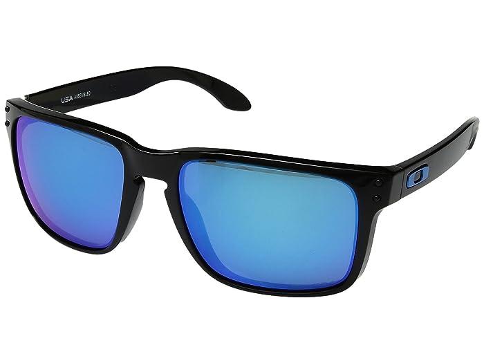 Oakley Holbrook XL (Polished Black w/ Prizm Sapphire) Athletic Performance Sport Sunglasses