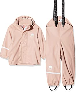 Kids Waterproof 2 Pcs Rain Wear - Hooded Jacket & Pants/or Dungarees - 20 Colors (2T-10Y)