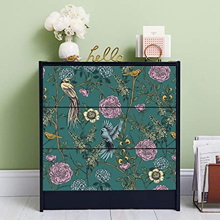 Shelf Chest of Drawers| 40 x 60 cm Self-adhesive Decoration for Tables Wardrobe Furniture Stickers Decorative Furniture Decals Azulejos Tiles Style