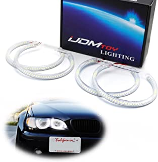 iJDMTOY 7000K Xenon White 264-SMD LED Angel Eyes Halo Ring Lighting Kit for BMW E36 E46 3 Series E39 5 Series E38 7 Series with Adaptive Xenon HID Headlight