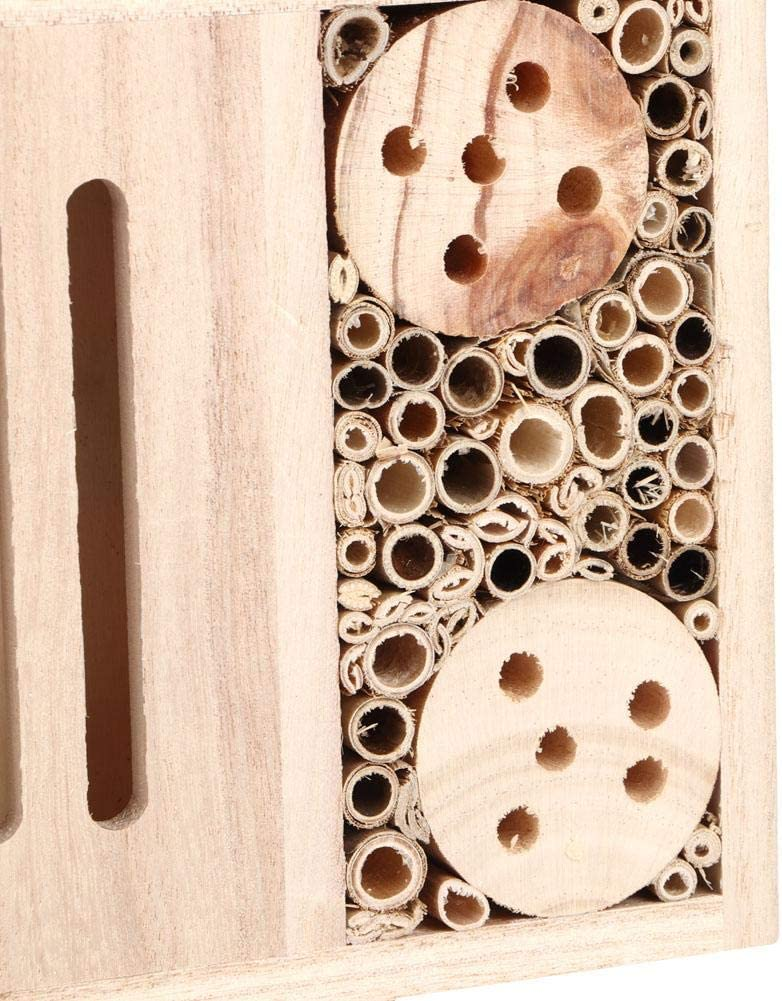 Bee House Beehive Garden Insetto in Legno per Esterni Bee House Insetto in Legno Riparo Nesting Box Nido per la Decorazione #1