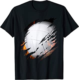 Volleyball Ball On Fire Inside Of Me Fan Player Gift T-Shirt