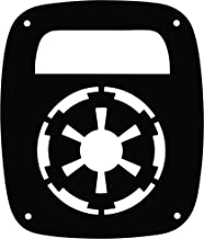 JeepTails Star Wars Empire - Jeep TJ Wrangler Tail Lamp Covers - Black - Set of 2