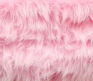 Faux Fur Fabric Long Pile Monkey Shaggy Pink / 60
