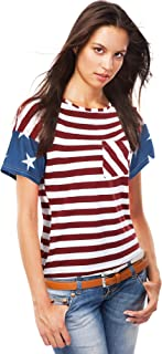 American Flag T-Shirt Short Sleeve Tops Patriotic T-Shirt for July 4th Accessory