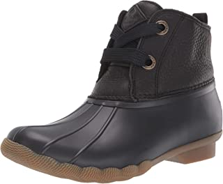 Sperry Women's Saltwater 2-Eye Leather Brown/Navy Rain Boot
