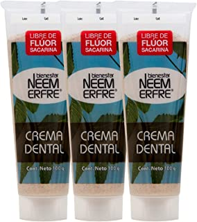 Crema Dental Natural Artesanal de Corteza de Neem sin Fluor Gluten Sulfatos (SLS) Parabenos Petrolatos -Refrescante Sabor ...