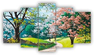 Alura Art N Frames Modern Art Nature Scenery 5D Self Adhesive UV Coated Painting For Wall For Home Decorations ( 17 Inch X...