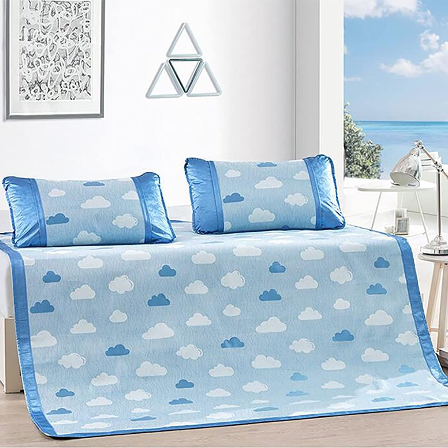 Plant Flowers Summer Mattress,European Luxury Cool pad Summer Sleeping mat Mattress Topper air Condition seat -A 150  200cm(59x79inch)