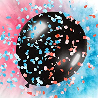 TOLTOL Gender Reveal Balloons Set, 36'' Exploding Balloons Confetti Balloons Powder Balloons Come With Pink&Blue Powder Confetti Darts for Baby Shower Parties Festivals