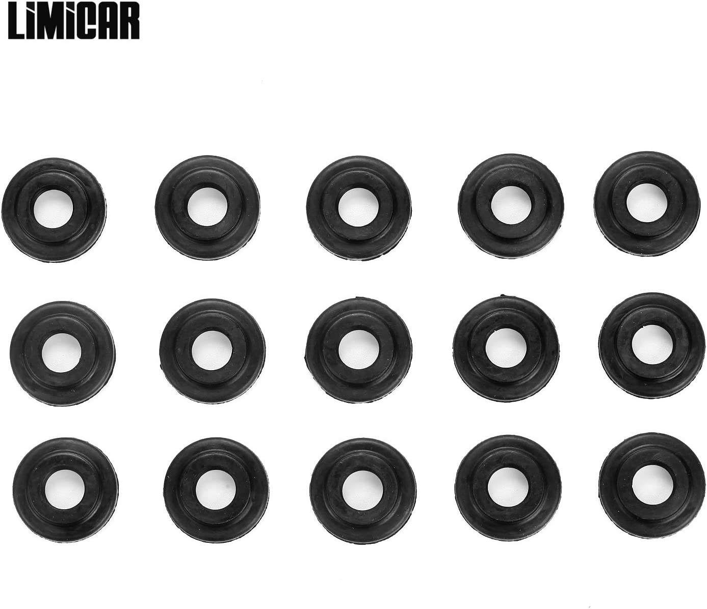 Valve Cover Bolt Seals Grommets fits BMW E36 E46 E60 328i 328ci 2.5L 3.0L Qty 15