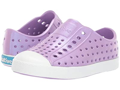 Native Kids Shoes Jefferson Iridescent (Toddler/Little Kid) (Lavender Purple/Shell White/Galaxy) Girls Shoes