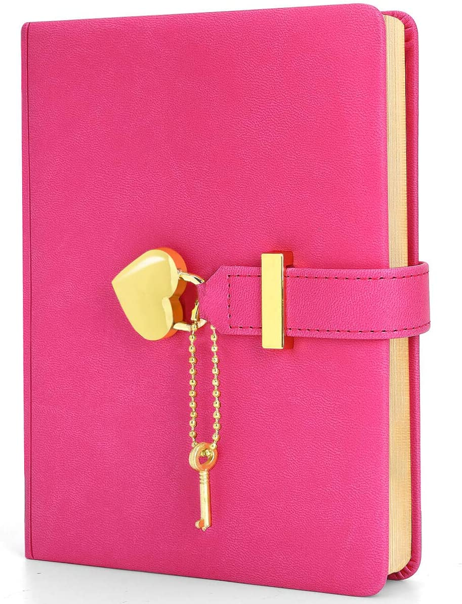 B6 Max 45% OFF Heart Shape Lock Notebook Not Raleigh Mall PU Journal Leather Diary