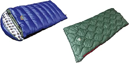 Alpinizmo High Peak USA Ranger 20F & Kodiak 0F Sleeping Bags Combo Set, Green/Blue, One Size