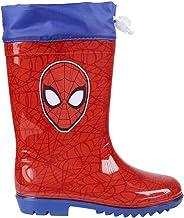 25 EU Rojo dise/ño de Spiderman Soputan Wellington Rojo Botas de Agua para ni/ños