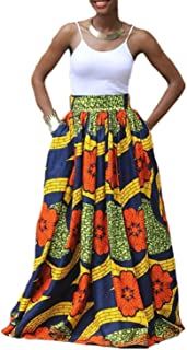 Gonna Campana stampata Africana Tribale Cocktail Party Ballo Print Midi Skirt S