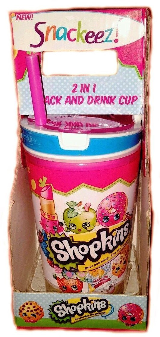 Snackeez Shopkins 2 Mesa Mall in 1 Snack and Drink of Cup C Regular store One Pack