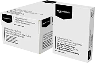 Amazon Basics Multipurpose Copy Printer Paper - White, 8.5 x 11 Inches, 8 Ream Case (4,000 Sheets)
