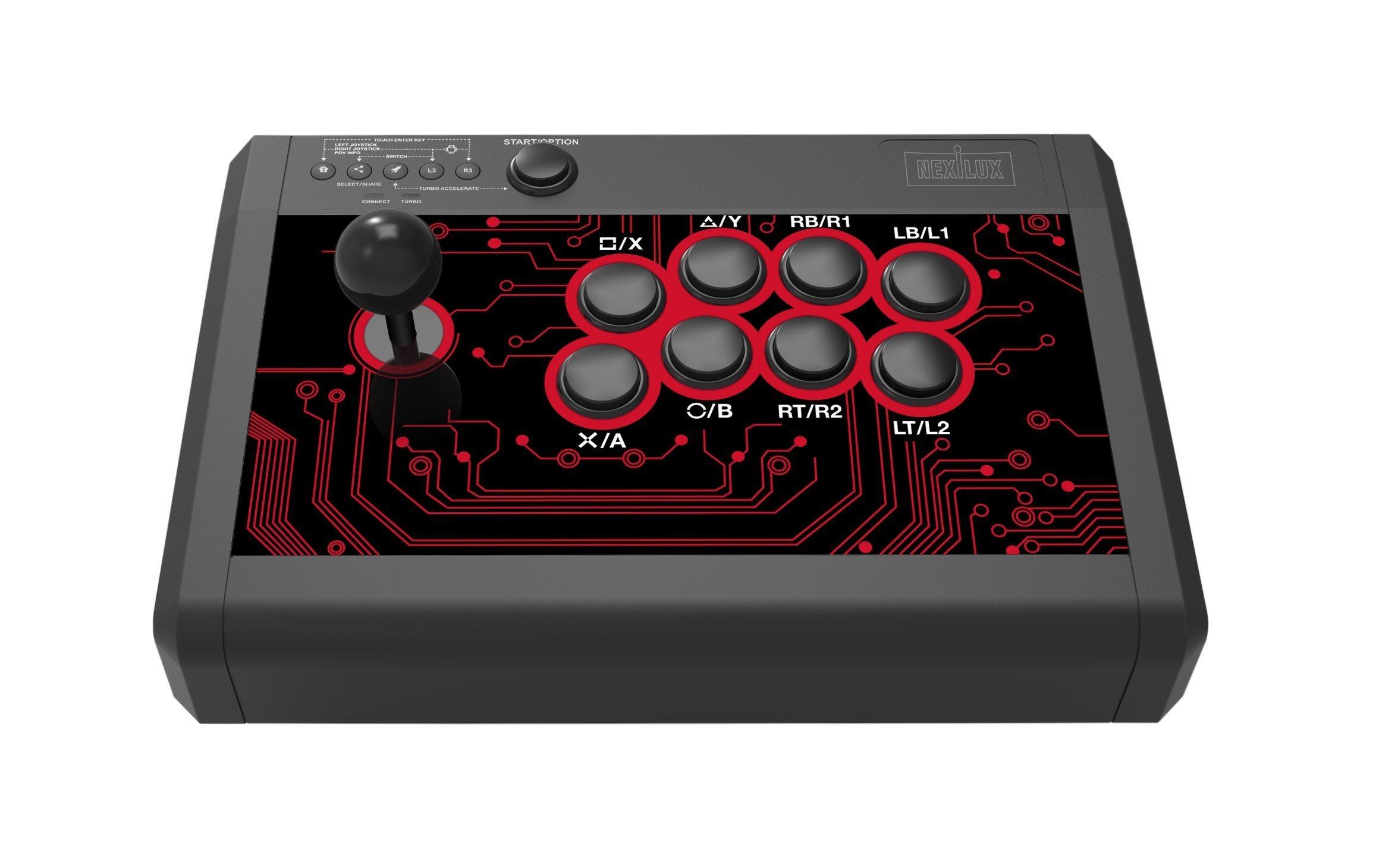 Arcade Fight Stick Palanca de Mando para PS4 PS3 Xbox One 360 PC Android & Switch: Amazon.es: Electrónica