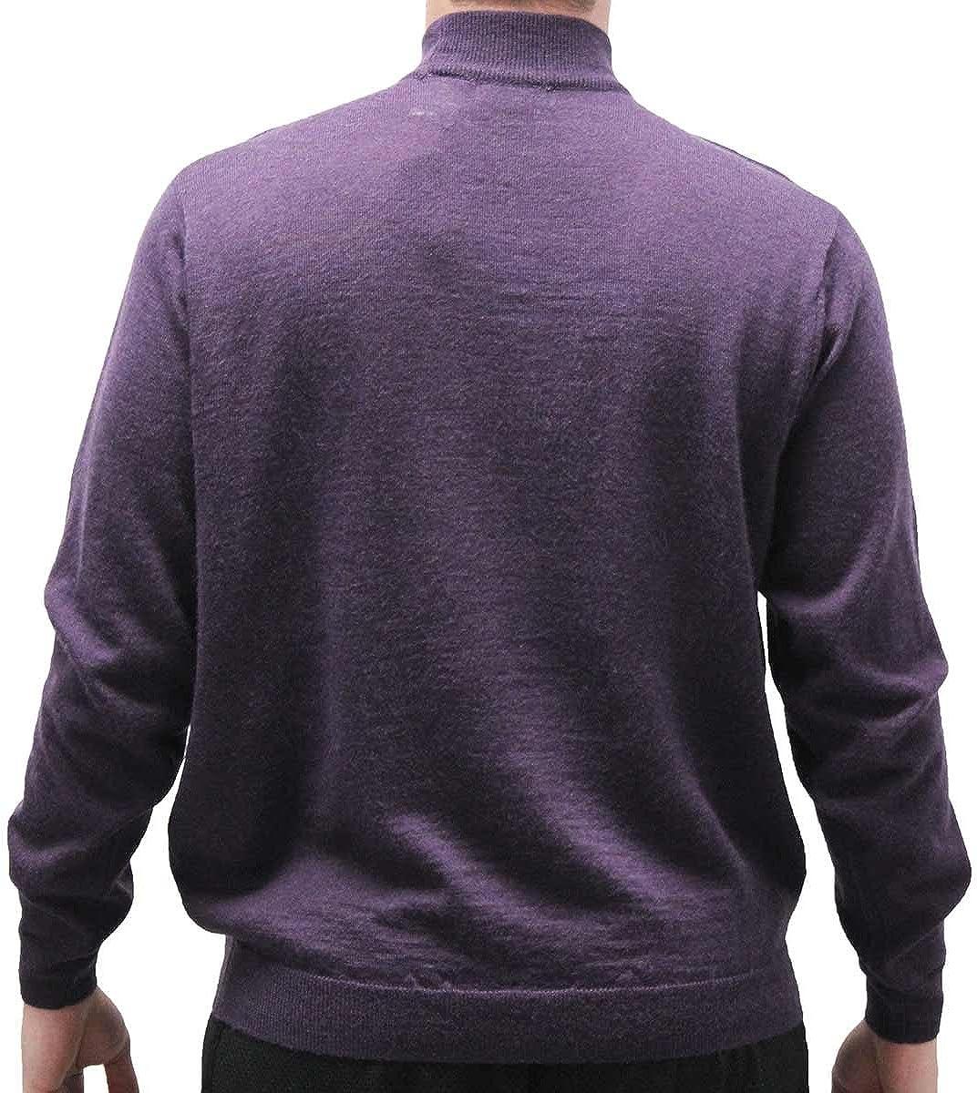 Cellinni Men's Solid Mock Turtleneck Sweater 6800-500