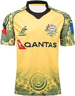 ラグビージャージ、トレーニングシャツ、2017年オーストラリア記念版、男性と女性のためのアウトドアレジャーTシャツ