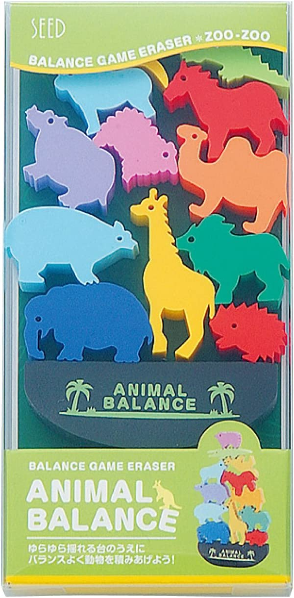 Ratpaneete Seed Animal Max 56% OFF Balance Game Sales - Set Zoo Eraser