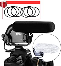 DSLR Super Cardioid Shotgun Microphone, BOYA BY-VM190P Video Condenser Mic for DSLR Video Cameras DV with Suspension Mount, 2-Step High Pass Filter and 3-Stage Audio Level Controls