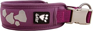 Hurtta Weekend Warrior Dog Collar, Currant, 10-14 in