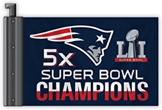 Fremont Die NFL New England Patriots Super Bowl 51 5X Champions Antenna Flag