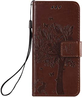 Simple Flip Case Fit for Samsung Galaxy A70S, coffee Leather Cover Wallet for Samsung Galaxy A70S
